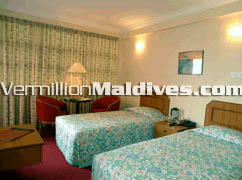 Bedroom of Central Hotel Male' Maldives – Book your Rooms here for your Night Stay