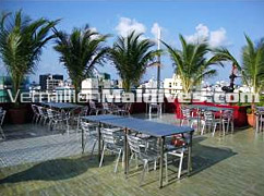Enjoy the Open air restaurant of Central Hotel in Male' - Maldives