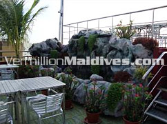 Garden Area of Restaurant in Central Hotel in Maldives – Male Hotel