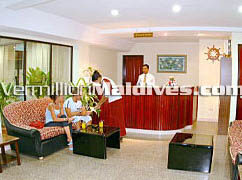 Lobby Area of Central Hotel - The travelers Home in Male', Maldives