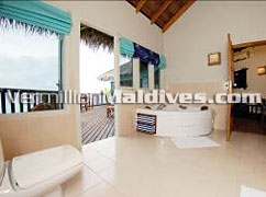 Bath Room with jet pools - Chaaya Island Dhonveli – luxury Maldives Resort