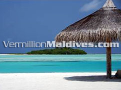 Beautiful beach of Chaaya Dhonveli Hotel Maldives