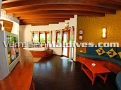 Spacious Living area – Chaaya Dhonveli Maldives – Resort Hotel