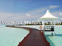 Jetty of Chaaya Lagoon Hakura Huraa Maldives Resort Hotel