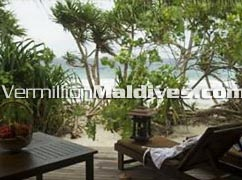 Alidhoo Maldives Beach Villa accommodation – outside view
