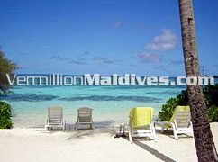 Sun Chairs - Relax all Day in Club Faru Maldives. A Honeymoon Resort