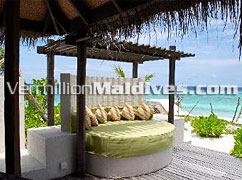 Day Beds at Coco Palm Bodu Hithi Maldives Island Resort