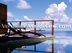 Infinity Pool In Villa of Coco Palm Bodu Hithi. Maldives luxury Beach Resort