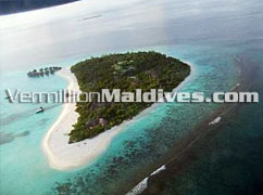 Aerial Picture of Coco Palm Dhunikolhu Resort Hotel Maldives