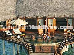 Sunset Lagoon Villa at Coco Palm Dhunikolhu Maldives. Pure privacy for your sexy partner
