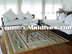 Lounge of the Rooms in Cocoa Hotel Maldives