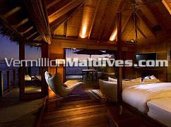 Jacuzzi Water Villa's at this first class resort hotel Conrad Maldives Resort Hotel Rangali