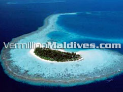 Aerial Picture of Maldives Beach Resort Hotel Constance Halaveli