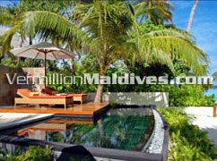 Day beds and Pool - Constance Halaveli –Five star Hotels of Maldives