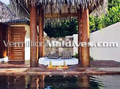 Beach Bungalow with Plunge Pool at Dhoni Island for private Maldive Holiday