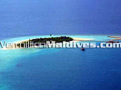 Aerial View Dhoni Mighili Maldives Island