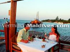 Private Dining in the middle of the sea at Dhoni Slumber