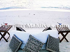 Private affair at Dhoni Island Maldives: Lay back with you lovely partner