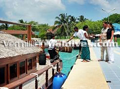 Ready to Board Dhoni Slumber Dhoni Island Maldives