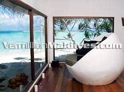 View from Beach Bungalow at Dhoni Island Maldives resorts
