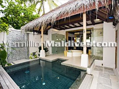 In Villa Pool at Beach pool Villa. Five Star hotel DIVA Maldives