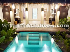 Take a Dip in the your own private plunge pool in your villa at DIVA Maldives