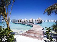 Walkway to Water Villas of DIVA Maldives – Honeymooners Paradise
