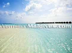 White Sandy Beach and Clear lagoons - DIVA Resort Hotel Maldives