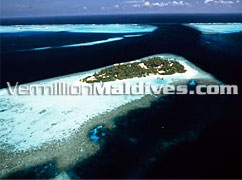 Aerial Picture View of Embudu Village Maldives Island Resort
