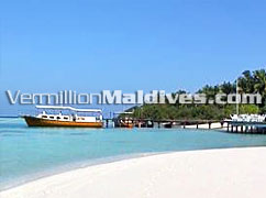 Arrival to resort Embudu Village. A beautiful Maldives Beach Holiday place