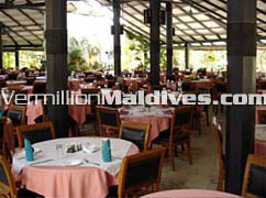 Restaurant at Embudu Village Resorts Maldives for fine Dining