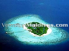 Aerial View Eriyadu Island Beach Resort Hotel Maldives