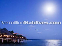 Dining under the moon at Hotels Maldives Eriyadhu Island