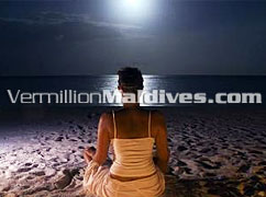Under the moon light at Eriadhu. Your dream Maldives Holiday island