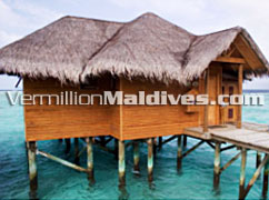Stand Alone Water Bunaglows in Hotel Maldives Fihaalhohi