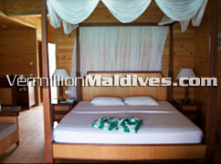 Waters Bungalows Bedroom : Fihaalohi Island Resort Maldives