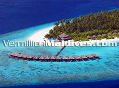 Aerial Picture View of FIlitheyo Island Resort Maldives