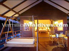 Bedroom View from Deck: Water Villas Filitheyo Island hotels Maldives