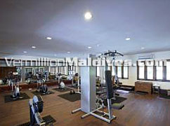 Gym at Maldives Filitheyo Island