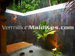 Outdoor Shower Superior Villa Filitheyo Maldives Resorts