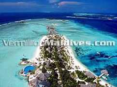 Aerial View Four Seasons Kuda Hura Island Beach Resort Maldives