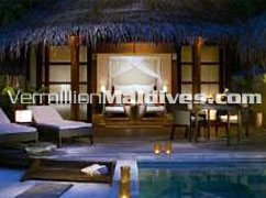 Beach Bungalow with Pool: Stylish Accommodations at Kuda Huraa Maldives