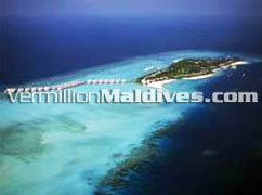 Aerial View of Four Season Landaa Giraavavu Maldives Resort at Baa Atoll