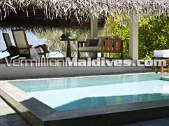 Beach Bungalow with Pool at Four Seasons Maldives Landaa Giraavaru