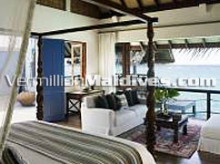Bedroom Koimala Land and Ocean Villa:  Maldives Resorts at Four Seasons Landaa