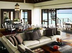 Two Bedroom Water Villa Living Room for Maldives Family Luxury Holidays