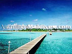 Fun Island Resort Hotel Maldives Jetty. Visit the island via the walk way