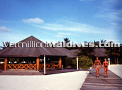 Maldives Hotel Fun Island Resort Jetty. A beautiful Maldives holiday resort