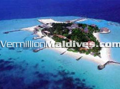 Aerial View of Giraavaru Island Resort Maldives