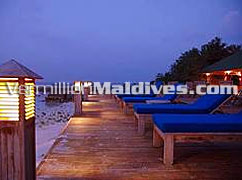 A Quiet Evening at Maldives Resort Helengeli